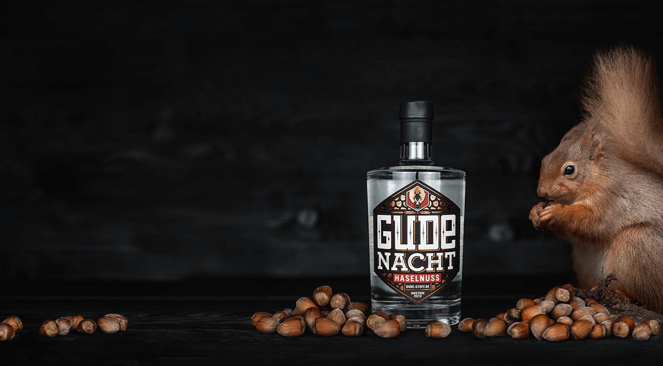 GUDE Nacht - feine Haselnuss Spirituose